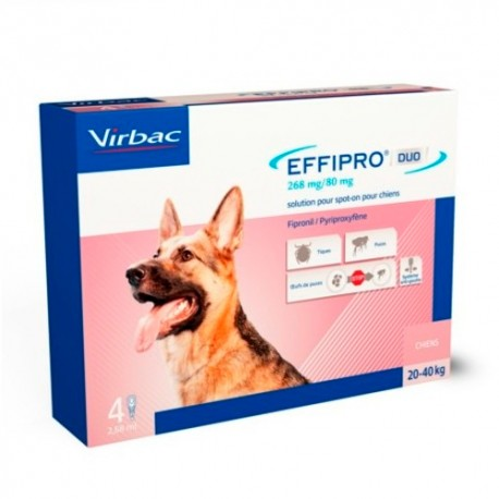 Effipro Duo Spot On Perro 20-40 kg 4 Pipetas