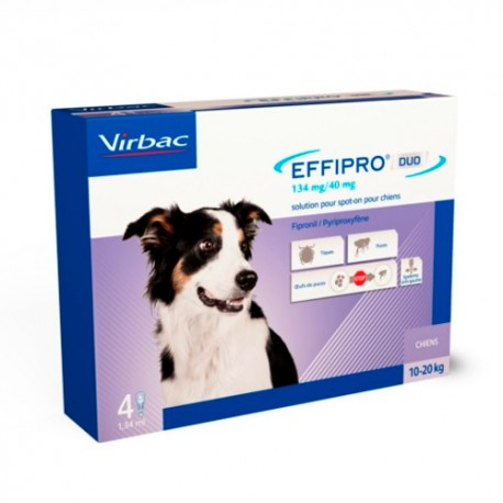 Effipro Duo Spot On Perro 10-20 kg 4 Pipetas
