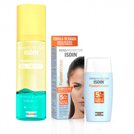 Isdin Pack Fusion Water SPF50 50ml + Fotoprotector Hidro Lotion SPF50 200ml