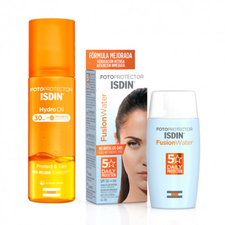 Isdin Pack Fotoprotector Fusion Water SPF50 50ml + HydroOil SPF30 200ml