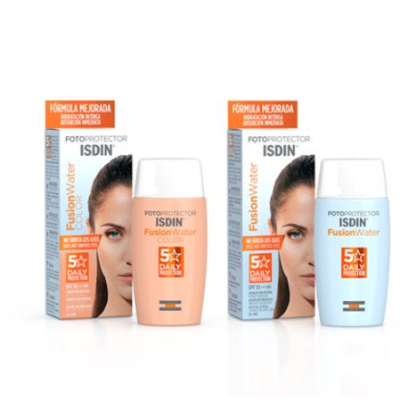 Isdin Pack Fotoprotector Fusion Water SPF50 50ml + Fusion Water Color SPF50+ 50ml