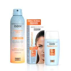 Comprar Isdin Pack Fotoprotector Fusion Water SPF50+ 50ml + Spray Transparente Wet Skin SPF50 250ml
