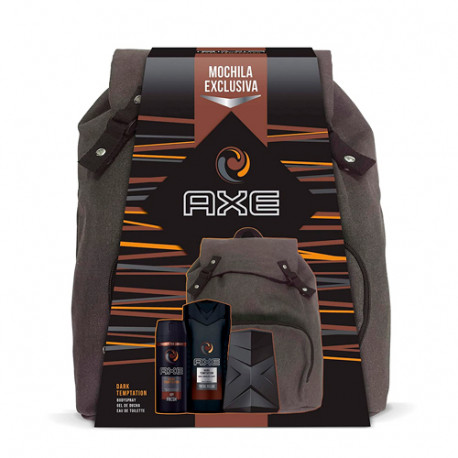 Axe Pack Dark Temptation Mochila Desodorante 150ml + Eau de Toilette 100ml + Gel de Ducha 250ml