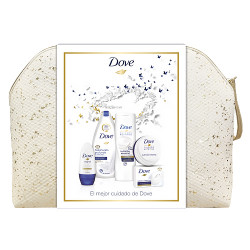 Comprar Dove Neceser Mujer Gel Hidratación 500ml + Loción 400ml + Crema 75ml + Roll On Original 50ml