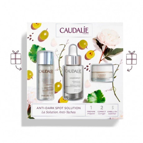Caudalie VinoPerfect Antimanchas Pack Esencia 50ml + Sérum 30ml + Crema 15ml
