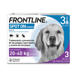 Frontline Spot On Perros 20-40Kg 3 pipetas