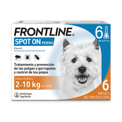 Frontline Spot On Perros 2-10Kg 6 pipetas