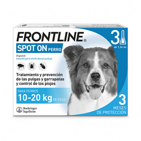 Frontline Spot On Perros 10-20Kg 3 pipetas