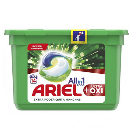 Ariel Pods All in 1 Ultra Oxi 14 dosis