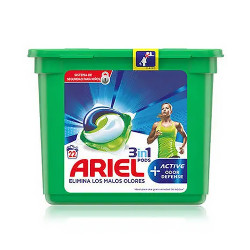 Comprar Ariel Pods 3 en 1 Active Odor Defense 22 dosis