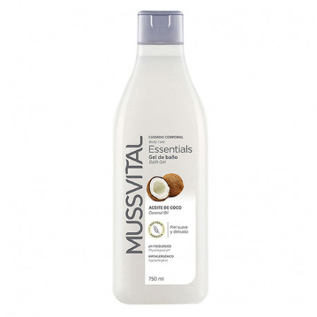 Mussvital Essentials Gel de Baño Aceite de Coco 750ml