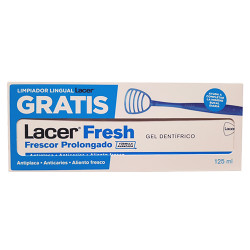 Comprar Lacer fresh Gel Dentífrico 125ml + Regalo Limpiador Lingual