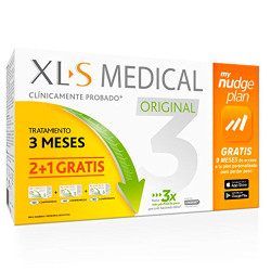 Comprar XLS Medical Original Captagrasas Tratamiento 3 Meses + My Nudge Plan