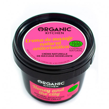 Organic Kitchen Crema de Masaje Natural Anticelulítica Honey And The City 100ml