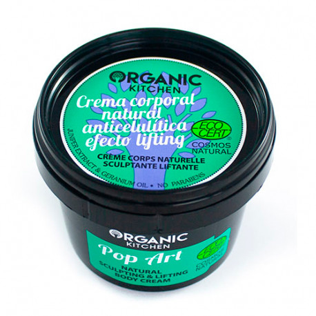 Organic Kitchen Crema Corporal Natural Anticelulítica Efecto Lifting Pop Art 100ml