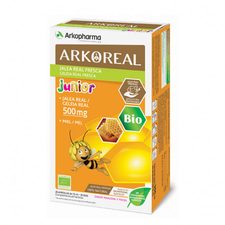 Arkoreal Jalea Real 500mg Fresca Junior BIO 20 ampollas