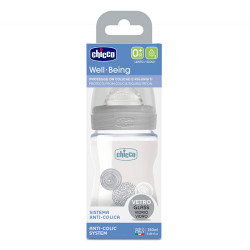 Comprar Chicco Biberón Well-Being Vidrio Silicona Neutro 150ml 0m+