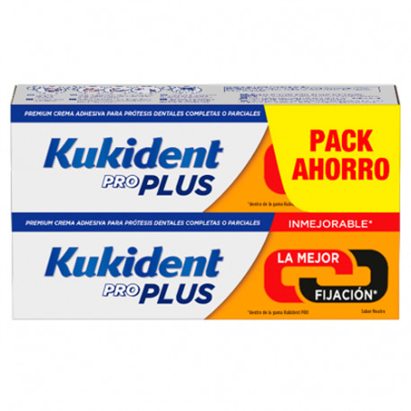 Kukident Pro Plus Doble Acción Duplo 2x40gr