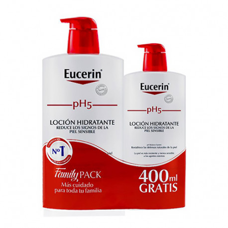 Eucerin pH5 Baño Dosificador Family Pack 1000ml + Gratis 400ml