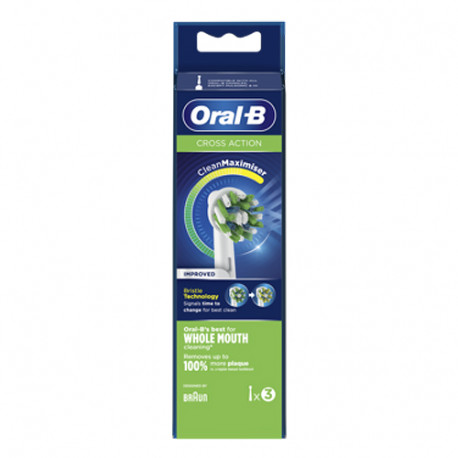 Oral B Cross Action Recambio Cepillo Eléctrico 3 unidades