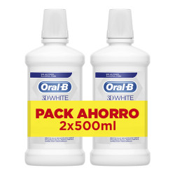 Comprar Oral-B 3D White Colutorio Pack 2x500ml
