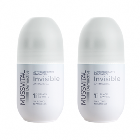 Mussvital Dermactive Desodorante Invisible Antimanchas Dúo 2x75ml