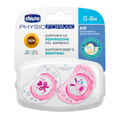 Comprar Chicco Chupete physio Air Orthodontic Latex 0-6m 2 Unidades