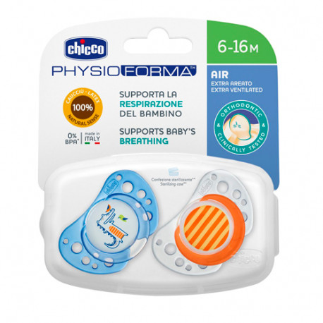 Chicco Chupete physio Air Orthodontic Latex 6-16m 2 Unidades