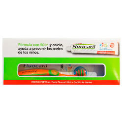 Comprar Fluocaril Pack Pasta Dental Kids Fresa 50ml + Cepillo Dental