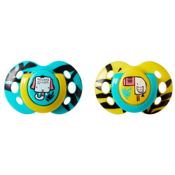 Tommee Tippee 2 Chupetes Fun Style 6-18m
