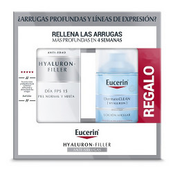 Comprar Eucerin Pack Hyaluron Filler Crema Día Piel Normal-Mixta SPF15+ 50ml + Agua Micelar Regalo 100ml