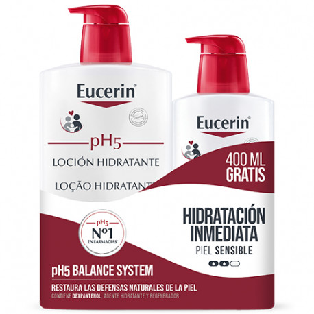 Eucerin Loción Hidratante pH5 Family Pack 1L + Regalo 400ml