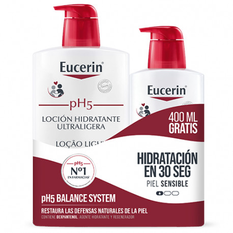 Eucerin Pack pH5 Loción Ultraligera 1L + 400ml