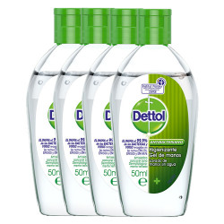 Comprar Dettol Gel Manos Antibacteriano Pack 4x50ml