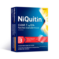 Comprar Niquitin Clear 7 mg/24h 14 Parches Transdermicos