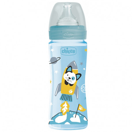 Chicco Biberón Well Being Silicona Animalitos +4meses 330ml