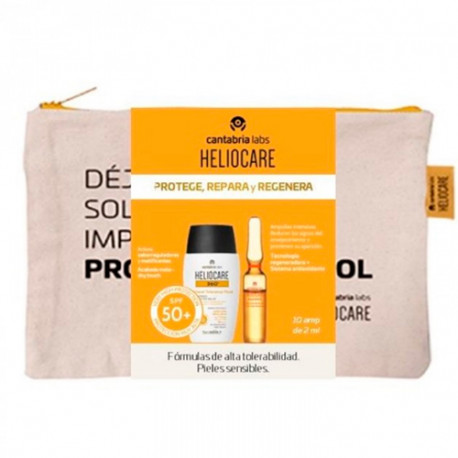 Heliocare Pack 360º Water Gel 50ml + Endocare Radiance Oil Free 10 Ampollas