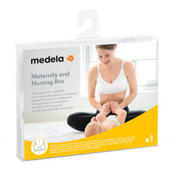 Medela Sujetador Maternity And Nursing Bra Blanco Talla L