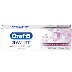 Comprar Oral-B 3D White Therapy Blanqueador Dientes Sensibles Pasta Dental 75ml