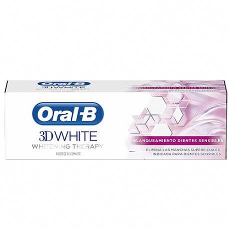 Oral-B 3D White Therapy Blanqueador Dientes Sensibles Pasta Dental 75ml