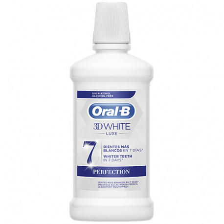 Oral B 3D White Luxe Perfection Colutorio Bucal 500ml