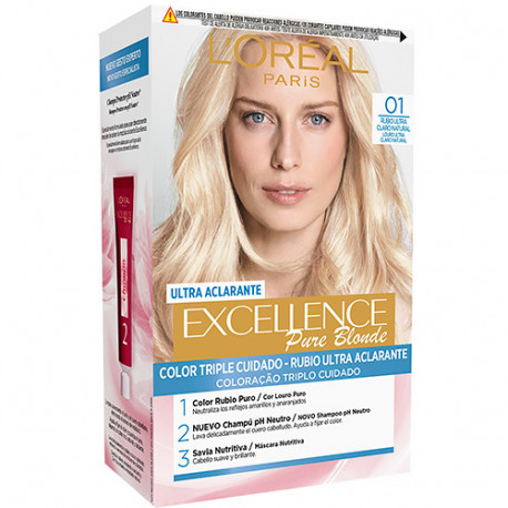 L'Oreal Excellence Pure Blonde 01 Rubio Ultra Claro Natural