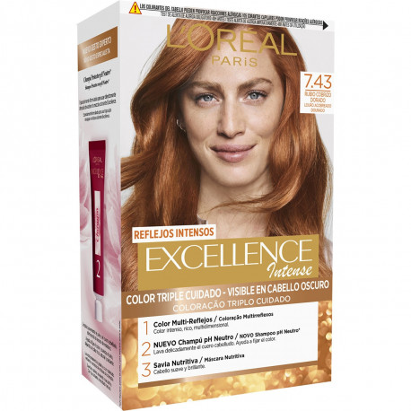 L'Oreal Excellence Intense Gold Cop Nº 7.43