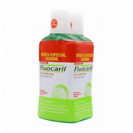 Fluocaril Bi-Fluoré Enjuague Bucal Anticaries 2x500ml