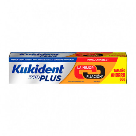 Kukident Pro Plus Doble Acción 60gr