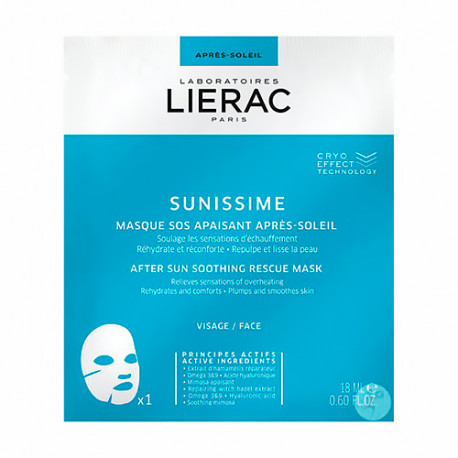 Lierac Sunissime Mascarilla After Sun Monodosis 18ml