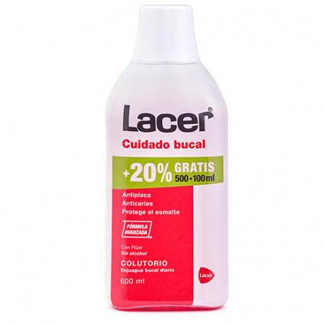 Lacer Colutorio Sin Alcohol 500 ml + Gratis 100ml