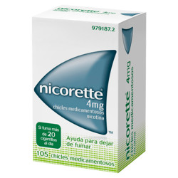 Comprar Nicorette 4mg 105 Chicles