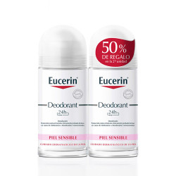Comprar Eucerin Desodorante Piel Sensible Roll-on Duplo 2x50ml