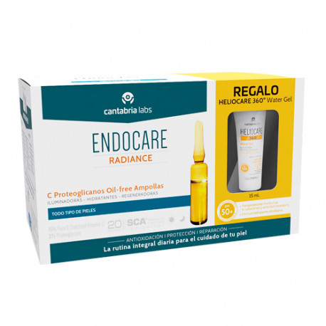 Endocare Pack Radiance C Proteo Oil Free 30 Ampollas + Obsequio Heliocare